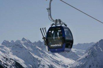Davos Klosters Mountains gehört zu den 15 größten Skigebieten in der Schweiz