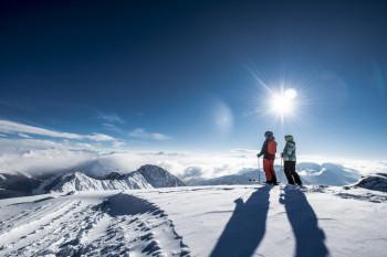Auf über 2800 Metern kannst du bei schönem Wetter eine tolle Aussicht genießen.