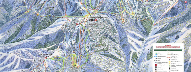 Pistenplan Deer Valley