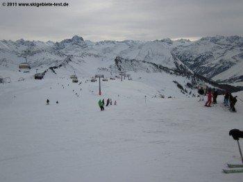 Blick auf den Bregenzerwald von der Bergstation der Gondelbahn!