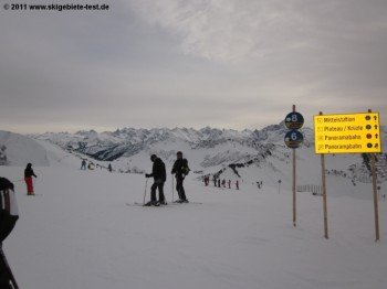 Sicht auf den Bregenzerwald von der Abfahrt 6/8 aus!