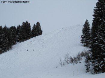 Blick auf die Buckelpiste (Skiroute 3)!