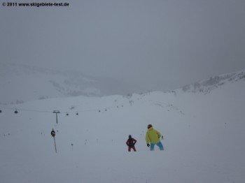 Abfahrt 1a von der Bergstation der Gondelbahn!