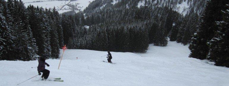Waldabfahrt ins Tal (Skiroute 21)!