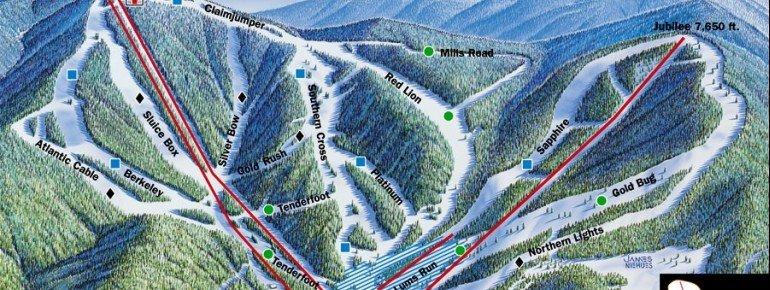 Pistenplan Discovery Basin Ski Area