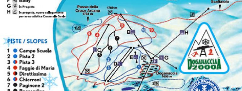 Pistenplan Doganaccia 2000 – Cutigliano