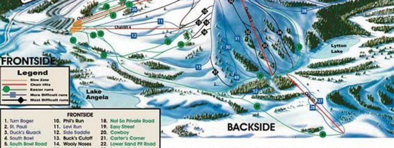 Pistenplan Donner Ski Ranch