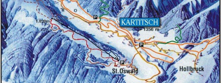 Pistenplan Dorfberglift in Kartitsch / St. Oswald