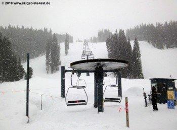Das westliche Ende des Skigebietes am Legends Lift!