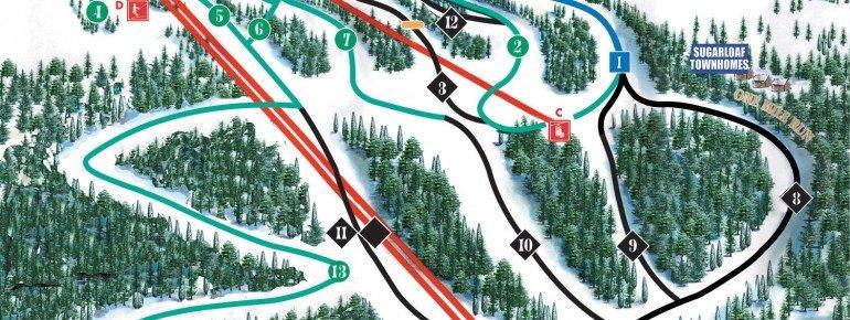 Pistenplan Eagle Rock Ski Area
