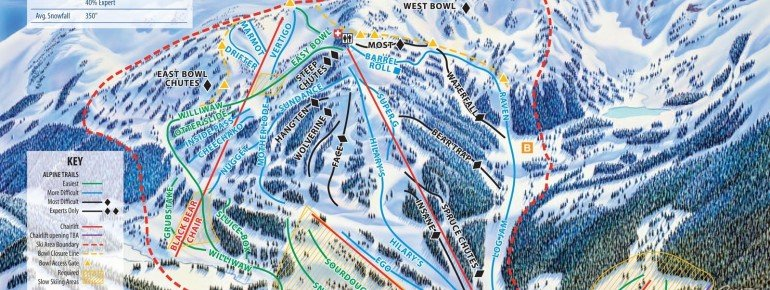 Pistenplan Eaglecrest Ski Area