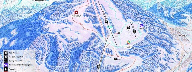 Pistenplan Monte Popolo Eben