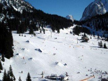 Überblick Snowpark Ehrwalder Alm