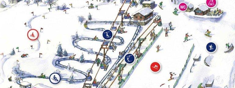 Pistenplan SkiArena Eibenstock - Wurzelrudi's Erlebniswelt