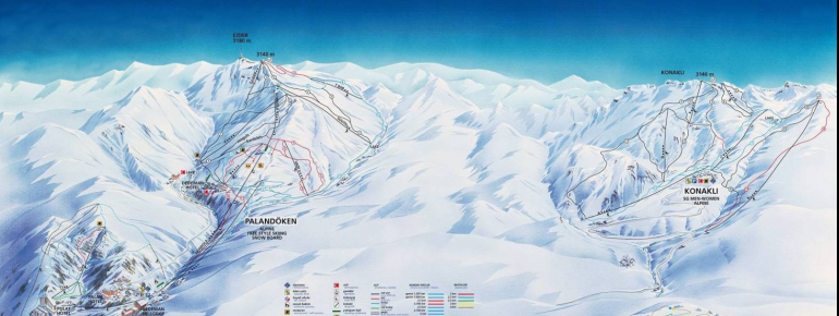 Pistenplan Ejder 3200 World Ski Center