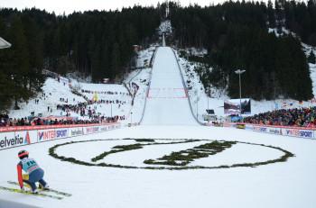Weltbekannt ist Engelberg auch durch seine Skisprungschanze.