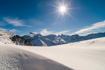 Von Oktober bis Mai liegt genug Schnee am Titlis für eine traumhafte Wintersaison.