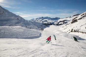 Über 80 Pistenkilometer erwarten Skifahrer am Titlis.