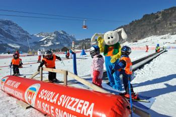 Bei den Skischulen in Engelberg sind die Anfänger bestens aufgehoben.