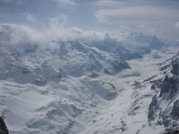 Aussicht vom Klein Titlis (3.028 m)