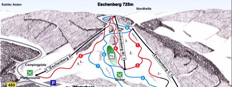 Pistenplan Eschenberglifte Niedersfeld