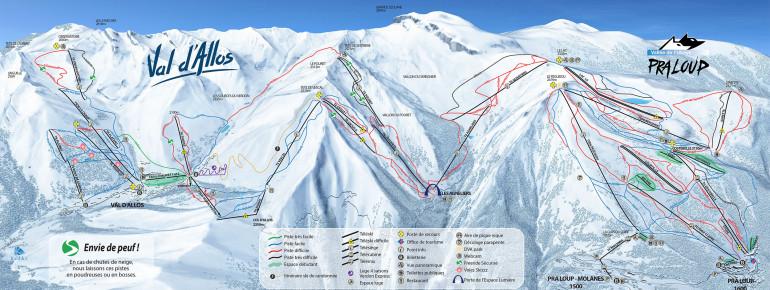 Pistenplan Val d'Allos