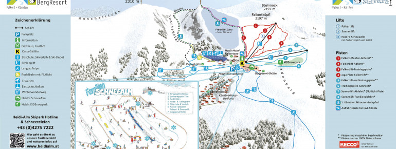 Pistenplan Heidi-Alm Skipark - Falkert