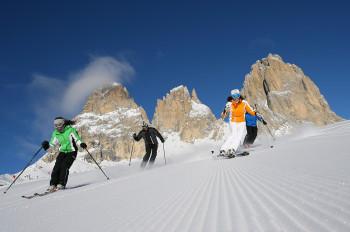 Skifahren am Col Rodella