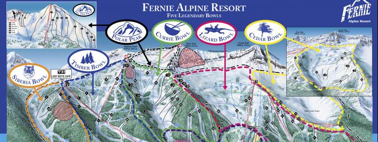 Pistenplan Fernie Alpine Resort