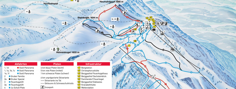 Pistenplan Feuerkogel - Ebensee