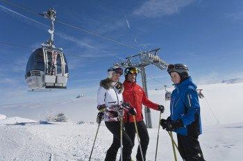 Das Skigebiet Feuerkogel ist bei Familien sehr beliebt.