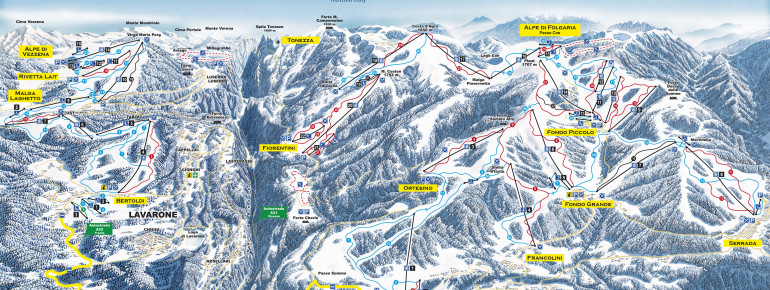 Pistenplan Folgaria Lavarone Luserna (Alpe Cimbra)