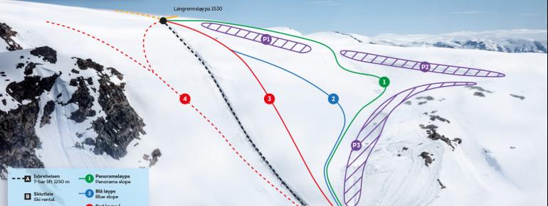 Pistenplan Fonna Glacier Ski Resort