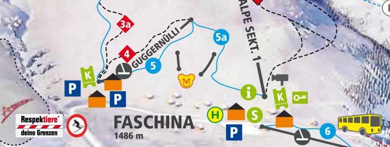 Pistenplan Faschina - Fontanella