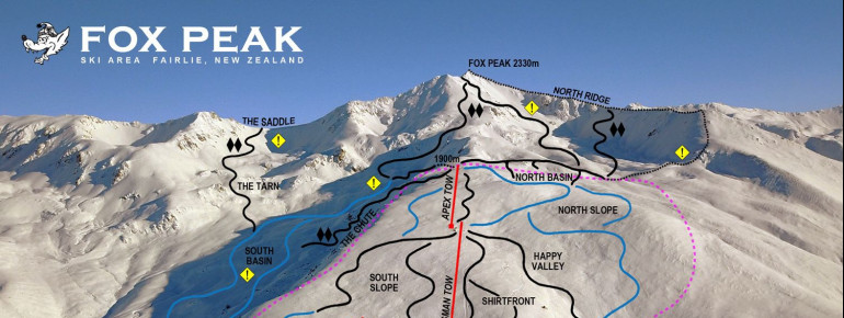 Pistenplan Fox Peak Ski Area