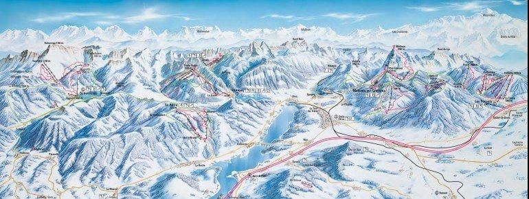 Pistenplan Fribourg Region