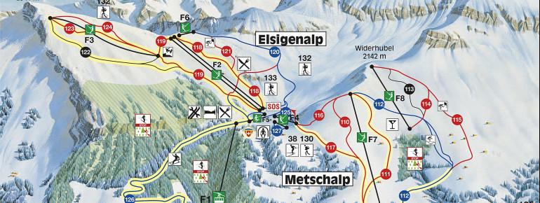 Pistenplan Elsigen-Metsch