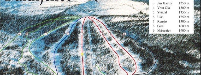 Pistenplan Fulufjellet