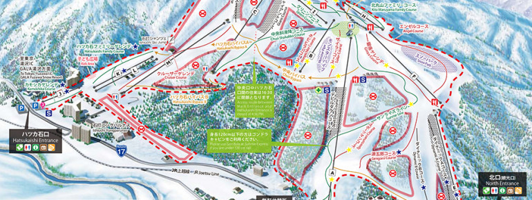 Pistenplan Gala Yuzawa/Ishiuchi Maruyama