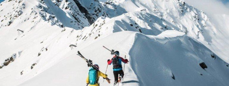 Tolle Freeriderhänge warten im Skigebiet Gargellen im Montafon.