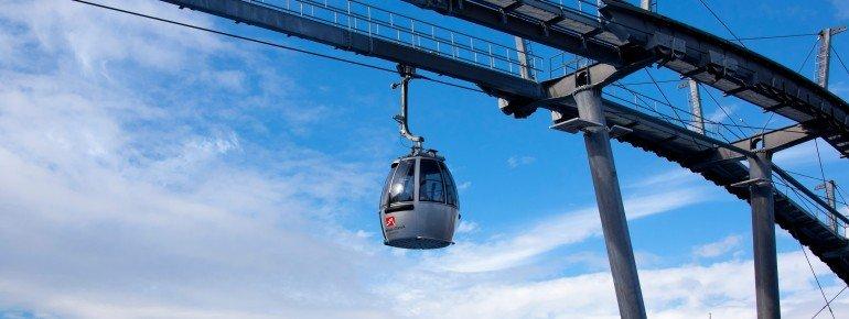 Die Kreuzeckbahn im Skigebiet Garmisch Classic
