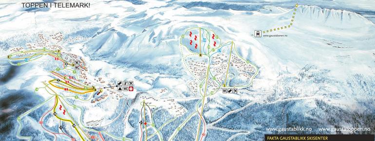 Pistenplan Gaustablikk - Rjukan