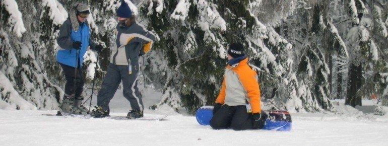 Snowboarder sind nicht nur auf der Piste, sondern auch auch in den zwei Funparks des Skigebietes gut aufgehoben
