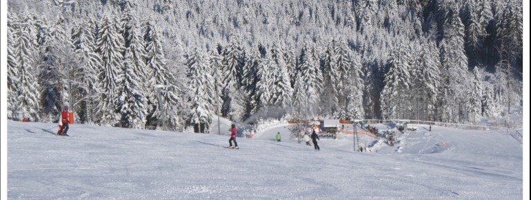 Das Skigebiet Geißkopf im Bayerischen Wald
