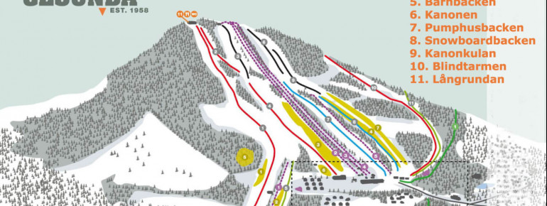 Pistenplan Gesundaberget - Royal Park Mountain Resort