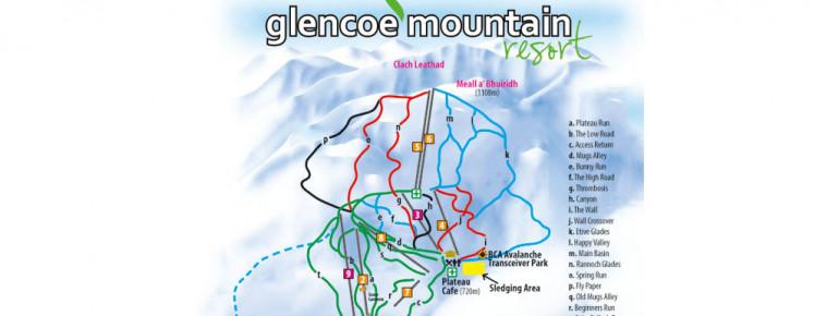Pistenplan Glencoe Mountain