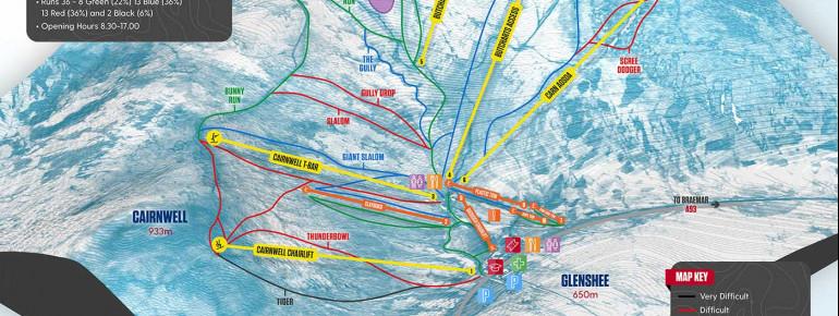 Pistenplan Glenshee