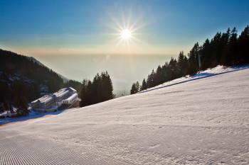 Das Hotel Golte befindet sich mitten im Skigebiet.