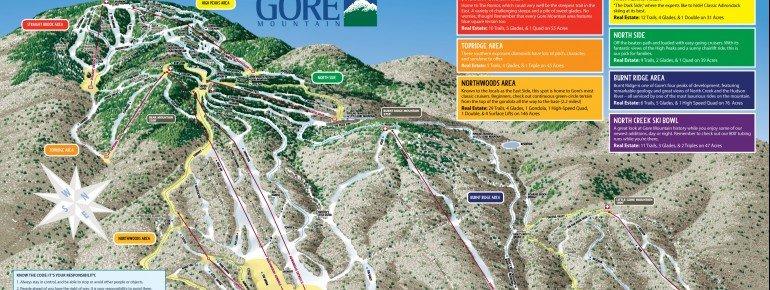 Pistenplan Gore Mountain