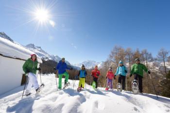 Sehr beliebt in Grächen: Schneeschuhwandern
